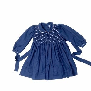 Carriage Boutiques navy smocked dress